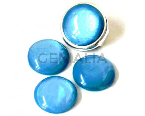 Resin. Cabochon. 20mm. Pearl turquoise. Best Quality.