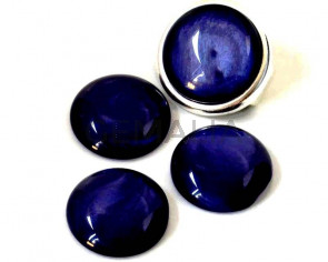 Resin. Cabochon. 20mm. Pearl lilac. Best Quality.