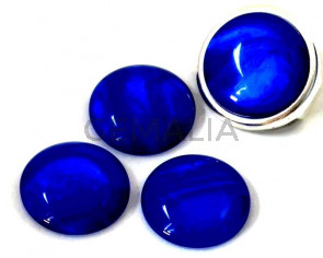 Resin. Cabochon. 20mm. Pearl blue. Best Quality.