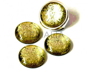 Resin. Cabochon. 20mm. Glittering light yellow. Best Quality.