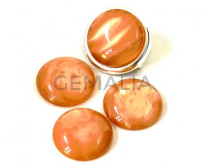 Resin. Cabochon. 20mm. Pearl light brown. Best Quality.
