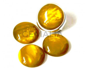 Resin. Cabochon. 20mm. Pearl olive. Best Quality.