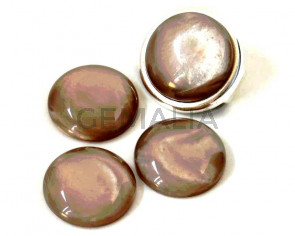 Resin. Cabochon. 20mm. Pearl light grey. Best Quality.