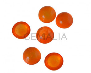 Resin. Cabochon. Coin. 7.2mm. Orange. Best Quality.