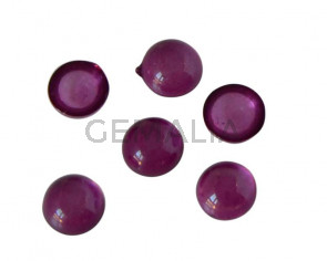 Resin. Cabochon. Coin. 7.2mm. Purple. Best Quality.