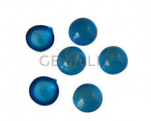 Resin. Cabochon. Coin. 7.2mm. Blue. Best Quality.