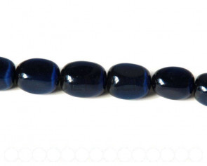 Cats Eye. 13x18mm. nugget. Navy blue. 16-inch strand