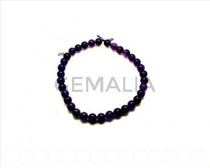 Amethyst . dyed. Round 12mm. 16-Inch Strand.