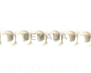 Glass Pearl, 12mm Round. white. Sold Per 32inch Strand. 72 PCs