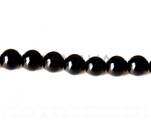 Glass Pearl, 10mm Round. black. Sold Per 32inch Strand. 88 PCs