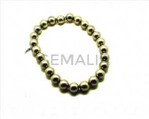 Shell pearl. Round 16mm. grey. 16-inch strand.