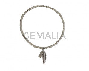 NECKLACE Pendant-feather