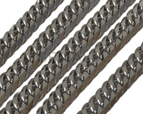 Stainless steel 304. Chain. Flat. 6.5x4.5x1.2mm. Silver.