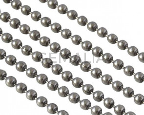 Ball Chain brass 1.5x1.5mm. Silver. Top Quality