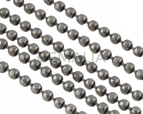 Ball Chain brass 1x1mm. Silver. Top Quality