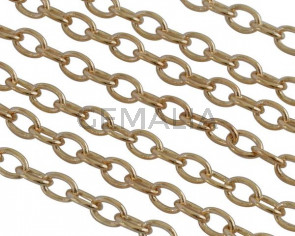Brass chain Oval 3.5x2.5mm. Gold. Top Quality