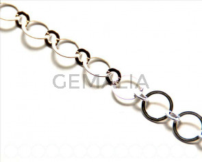925 SILVER. Chain. 10.6mm, ring