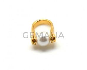 9990780 FINGER RING Zamak - Pearl