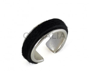 G032030 FINGER leather cord-zamak