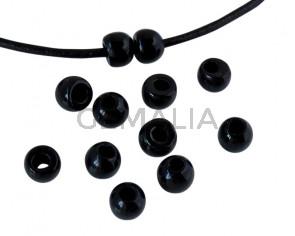 Round Resin 7x7x5mm. Opaque black. Inn.3mm aprox. Best Quality.