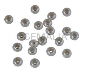 Zamak Rondell 5,5x3,9mm. Silver. Inn.2mm