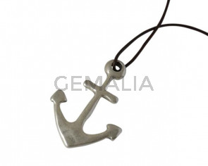 Anchor pendant 63x44mm. Zamak. Silver. Inn.6mm