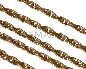 Brass chain 2.5mm. Gold