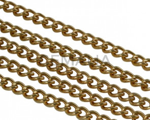 Brass chain 5.5x6mm. Gold
