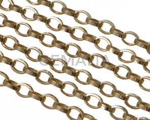 Brass chain 5x4mm. Gold