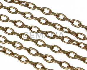 Brass chain 6x4mm. Gold