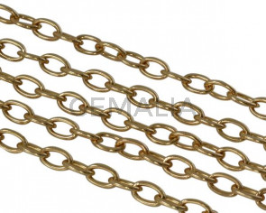 Brass chain 8x5mm. Gold