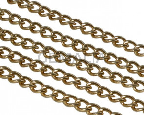 Brass chain 4x6mm. Gold