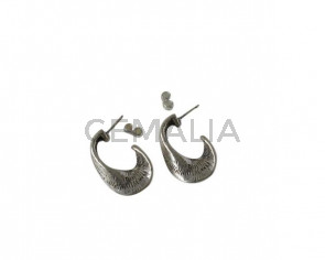 Earrings 26-17mm ring. Silver