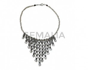 NECKLACE with Swarovski crystals silver plated
