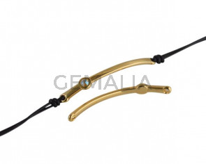 SWAROVSKI and metal connector. 43x5mm. Gold-Citrine Shimmer. Inn.1.5mm