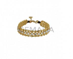 BRACELET gold Swarovski crystals