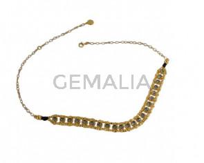 NECKLACE gold Swarovski crystals