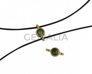Swarovski and metal connector 10x5mm. Gold-Erinite.Inn.2m