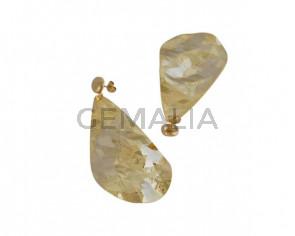 Tear earrings Brass 69x38mm. Gold. Top Quality