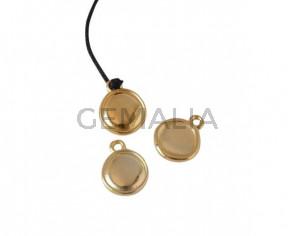 Coin Pendant Zamak 13x13mm. Gold. Inn.1.8mm