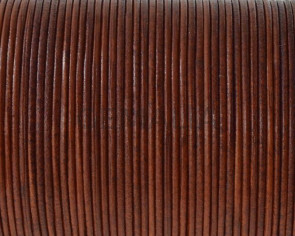 Kangaroo leather round 1mm. Camel. Best Quality.
