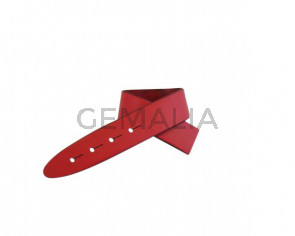 Leather cord strand for buckle clasp 230x20mm. Red-black edges. Best Quality