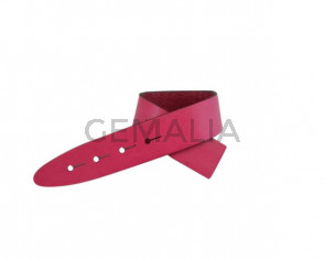 Leather cord strand for buckle clasp 230x20mm. Fuchsia-black edges. Best Quality