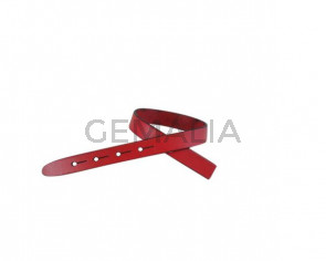 Leather cord strand for buckle clasp 230x10mm. Red-black edges. Best Quality