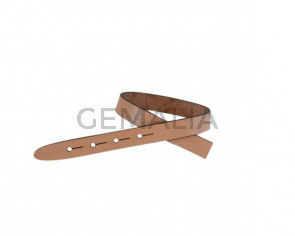 Leather cord strand for buckle clasp 230x10mm. Natural-black edges. Best Quality