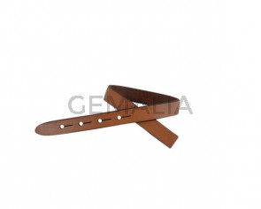 Leather cord strand for buckle clasp 230x10mm. Camel-black edges. Best Quality