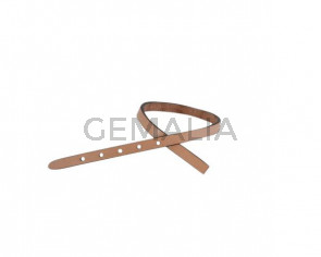Leather cord strand for buckle clasp 230x6mm. Natural-black edges. Best Quality