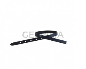 Leather cord strand for buckle clasp 230x6mm. Navy Blue-black edges. Best Quality