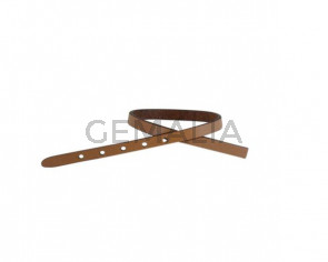 Leather cord strand for buckle clasp 230x6mm. Light brown-black edges. Best Quality
