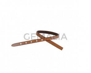 Leather cord strand for buckle clasp 230x6mm. Camel-black edges. Best Quality